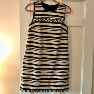JCrew dress. Navy/cream stripes